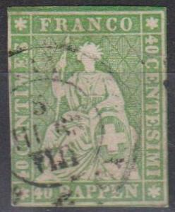Switzerland #40 F-VF Used CV $100.00 (B4232)