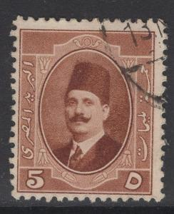 EGYPT SG115 1923 5m BROWN USED