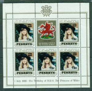 Penrhyn Island #246  MNH  Scott $8.75   Sheet of 6