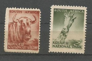 SOUTH AFRICA, 1930, mint Kruger National Park Scott Cinderella