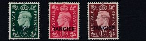 TANGIER  1937  S G 245 - 247  SET OF 3  LMH