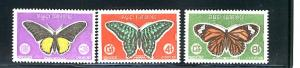 CAMBODGE 1969 BUTTERFLIES #210-212 MNH