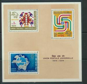 India 1974 Mini sheet SG MS734 MNH