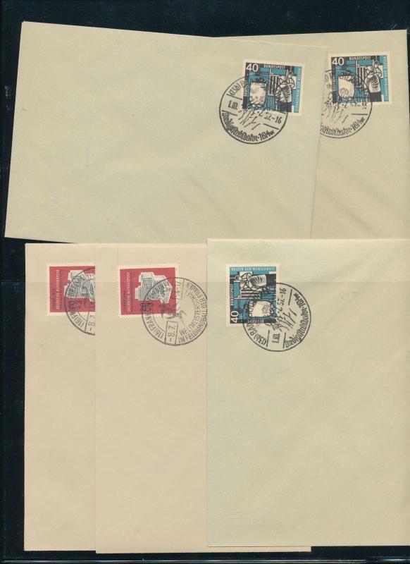 Germany West 1950s Covers Cinderellas Reprints x 14 (Au14058