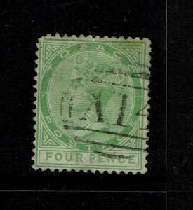 Tobago SG# 18 Used / Top Margin Wmk / Bent Perf - S6234