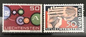 Liechtenstein 1961-2 #368,70, MNH, CV $.80