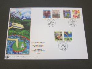 United Nations (NY,Vienna,Geneva) 2012 Sc 508-9,547-8,1040-1 FDC