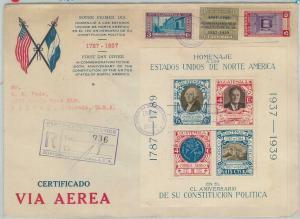 79020x - GUATEMALA - Postal HIistory -  Large FDC COVER 1938 - MAPS G Washington