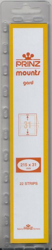 PRINZ 215X31 (22) CLEAR MOUNTS RETAIL PRICE $7.99