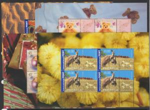 AUSTRALIA SGSP12/5 2003 GREETINGS (1 OF EACH PANE FROM BOOKLETS 12-15) MNH