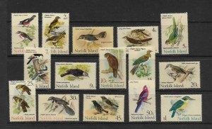 BIRDS - NORFOLK ISLAND  #126-40  MNH