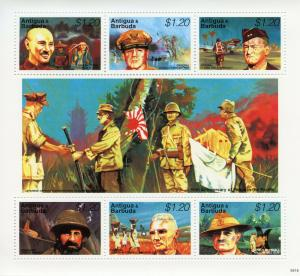 Antigua & Barbuda 1995 MNH WWII WW2 VJ Day Peace Pacific 6v M/S MacArthur Stamps
