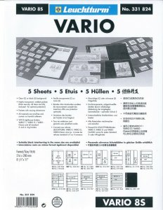 Lighthouse VARIO Stock Sheet Double Sided 8 Pocket Protector Pages Size: 8S