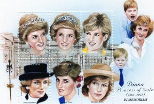 Central African 1997 1181 Princess Diana Mini-Sheet ovpt.MNH