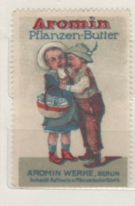 Germany - Aromin Plant Margarine Advertising Stamp Children Embracing NG