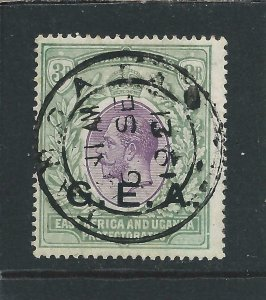 Tanganyika 1917-21 3r Violet & Green FU with complete cds SG 57 Cat £85