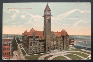 1919 Toronto Canada Color Picture Postcard Cover City Hall