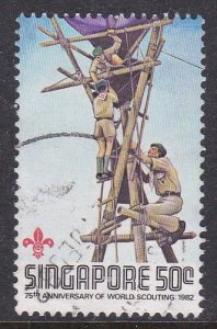 Singapore #406 F-VF Used Scouting Year