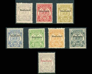 Swaziland Stamps Scott 1-8, 9 All Mint Never Hinged CV $637
