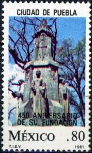 Mexico #1230 450th Anniv. of Puebla City