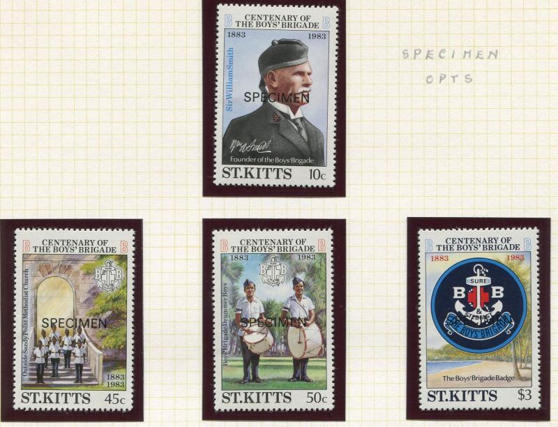 St Kitts - Scott 108-111 -Specimen- Boys Brigade -1983 -MNH- Set of 4 Stamps