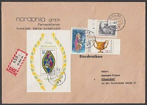 GERMANY 1976 Registered cover - nice franking...............................B369