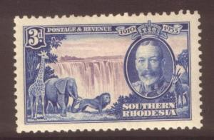 Southern Rhodesia 1935 3d SG33 hinged mint
