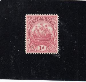 BERMUDA  # 83a  VF-MNH  1d CARAVEL / CARMINE/ TYPE II CAT VALUE $55