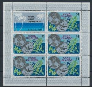 [I2263] Cook Is. 1977 Fauna flora good sheet very fine MNH