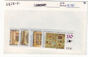 J24072 JLstamps 1990 germany DDR set mnh #2828-31 designs