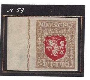 LITHUANIA  59 IMPERF MLH