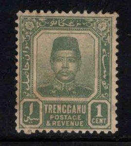 Malaya Trengganu Scott 1 MH* paper has yellowed with age