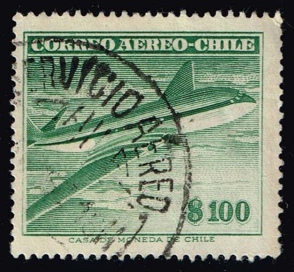 Chile #C187 Comet Air Liner; Used (0.25)