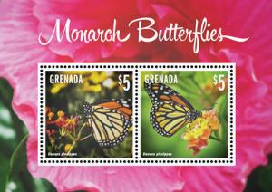 Grenada 2014 butterflies insects s/s MNH