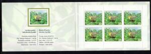 Latvia Sc 790b 2011 warbler stamp booklet mint NH