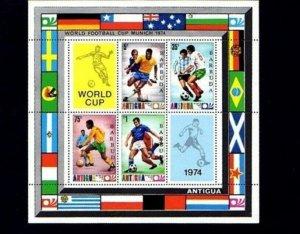 BARBUDA - 1974 - SOCCER - WORLD CUP - MUNICH - MINT - MNH S/SHEET!