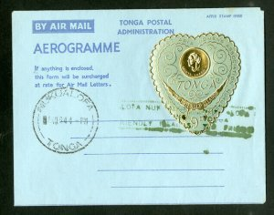 Tonga Stamps Scarce Air letter sheet