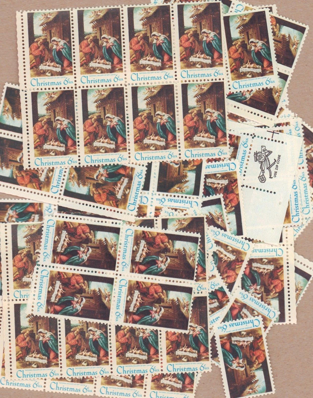 BJ Stamps 1414 Christmas 1970 Nativity MNH 100 6 Cent