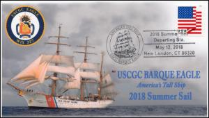 18-115, 2018, USCGC Barque Eagle, Tall Ship, Summer Sail, Pictorial, Event Cover