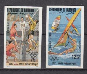 DJIBOUTI SC# C175-C176 PRE-OLYMPIC YEAR 1983 - MNH -  IMPERF