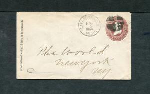 Postal History - Eaton Rapids MI 1885 Black Segmented Cork Cancel PS B0708