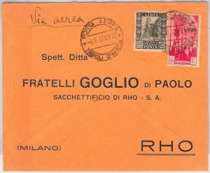 53688 - ITALIA COLONIE: LIBIA -  BUSTA POSTA AEREA  da TRIPOLI  1937
