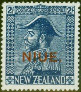 Niue 1927 2s Dp Blue SG48 V.F MNH