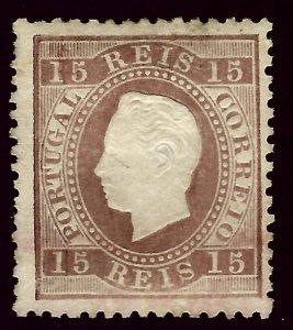 Portugal SC#38 Used (perhaps Unused) F-VF hr SCV$29.00...Worth a close look!!