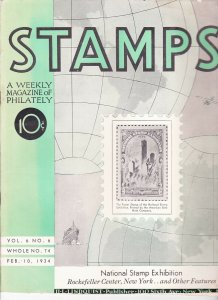 Stamps Weekly Magazine of Philately February 10, 1934 Stamp Collecting Magazine