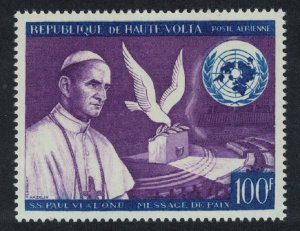 Upper Volta Bird Pope Paul's Peace Appeal before UN 1v 1966 MNH SG#204