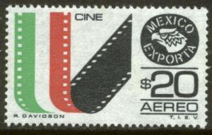 MEXICO Exporta C503 $20P Film Movies Unwmk Fluor/Th Paper 3. MINT, NH. VF.