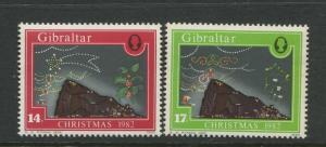 Gibraltar - Scott 441-442 - Christmas Issue -1982 - MNH - Set of 2 Stamps