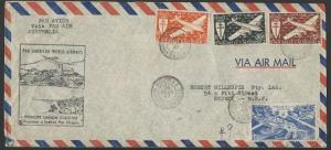 NEW CALEDONIA 1947 PanAm first flight cover per Clipper to Sydney..........10188