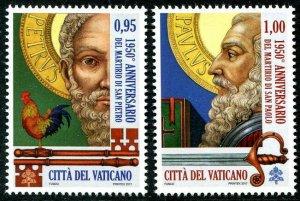 HERRICKSTAMP NEW ISSUES VATICAN CITY Sc.# 1653-54 Martyrdom St. Peter & St. Paul